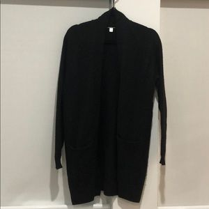 BP Long Cardigan in Black. XS, but fits Med